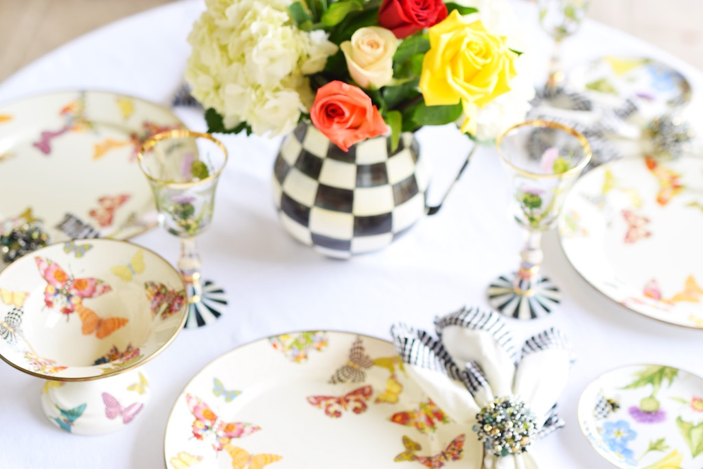 Butterfly Garden Tablescape | The Darling Petite Diva