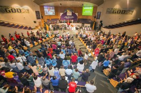 March 14, 2016 MARLENE QUARONI | FC Members of PACT rally for affordable housing and juvenile justice reforms at their Nehemiah Assembly.