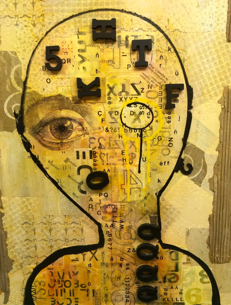 """Dyslexia, 2 (Dyptich) 20""""x28"""" mixed media AVAILABLE"""
