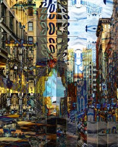 """New York, NY #1"" Digital photo collage. City Series 2015 #ThedaSandiford"