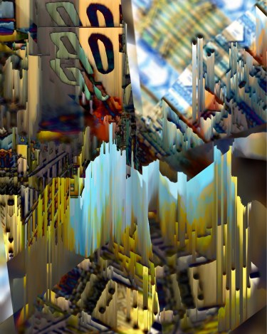 """""""Fall In New York"""" Digital collage. City Series 2015 #ThedaSandiford"""