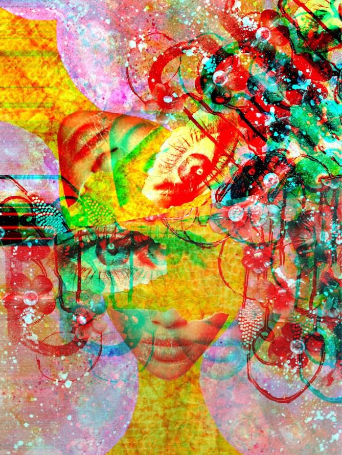 """Twin"" 30 x 24 x 1 in Aluminum Print Subject Matter: Self Portrait 2015"