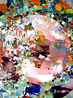 """Vulcan Daydream"" digital collage ""Super Selfie: Joy"" Series"