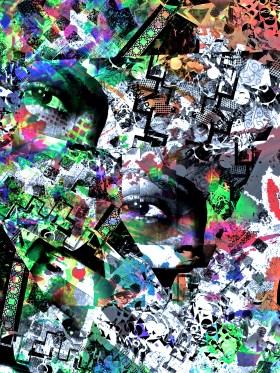 """Fizzy Lifting Drink"" digital collage Super Selfie: Joy Series"