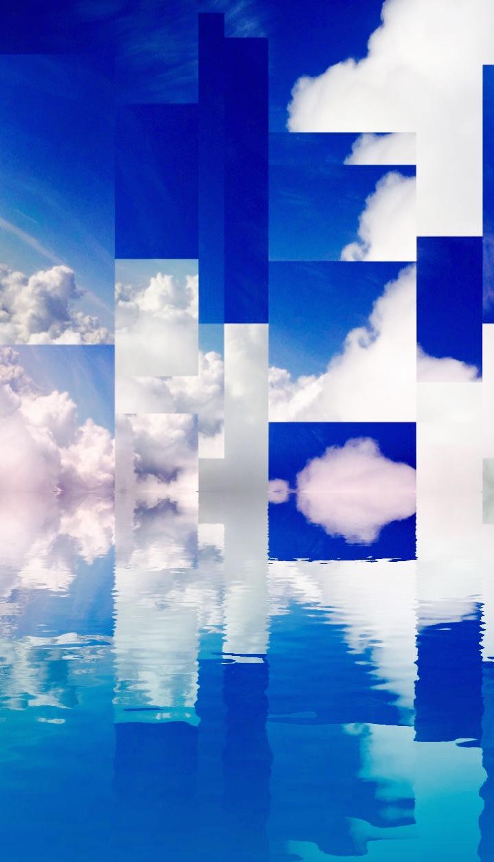 "Pixel Refract 10""x20"" Glossy White Aluminum Photo, 3/4"" Small Wall Float"