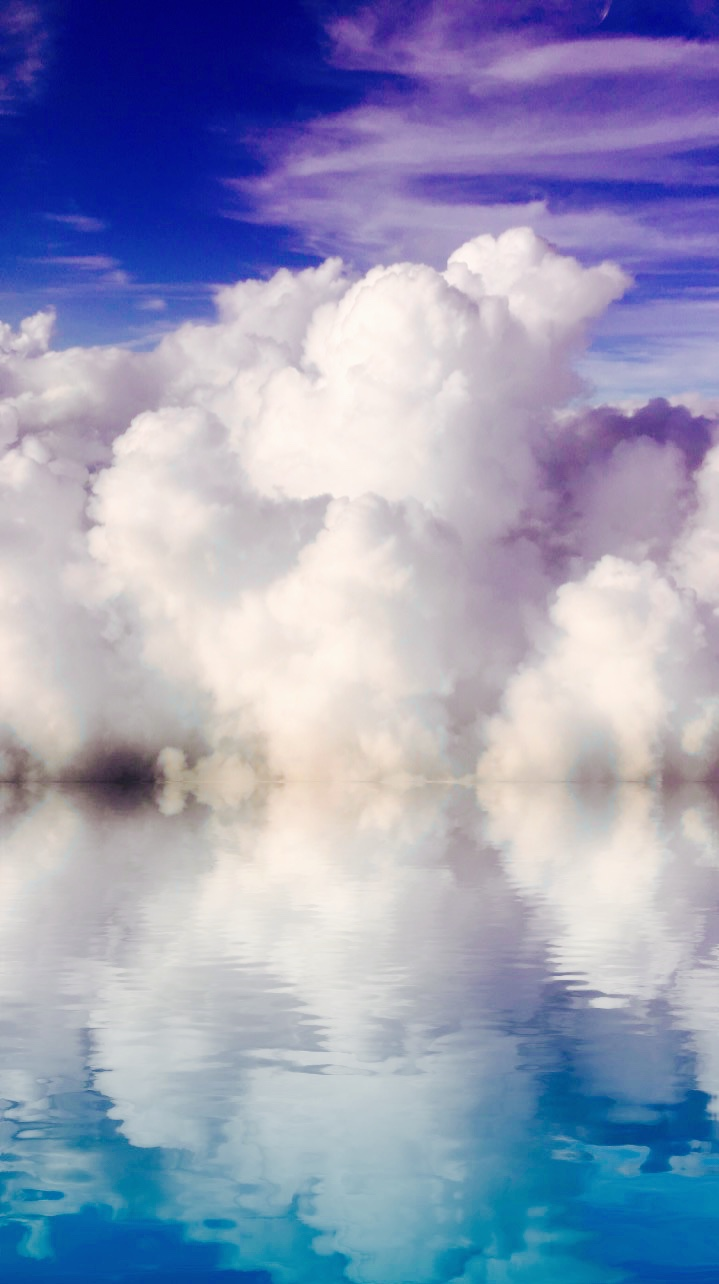 """Cotton Candy 10""""x20"""" Glossy White Aluminum Photo, 3/4"""" Small Wall Float"""
