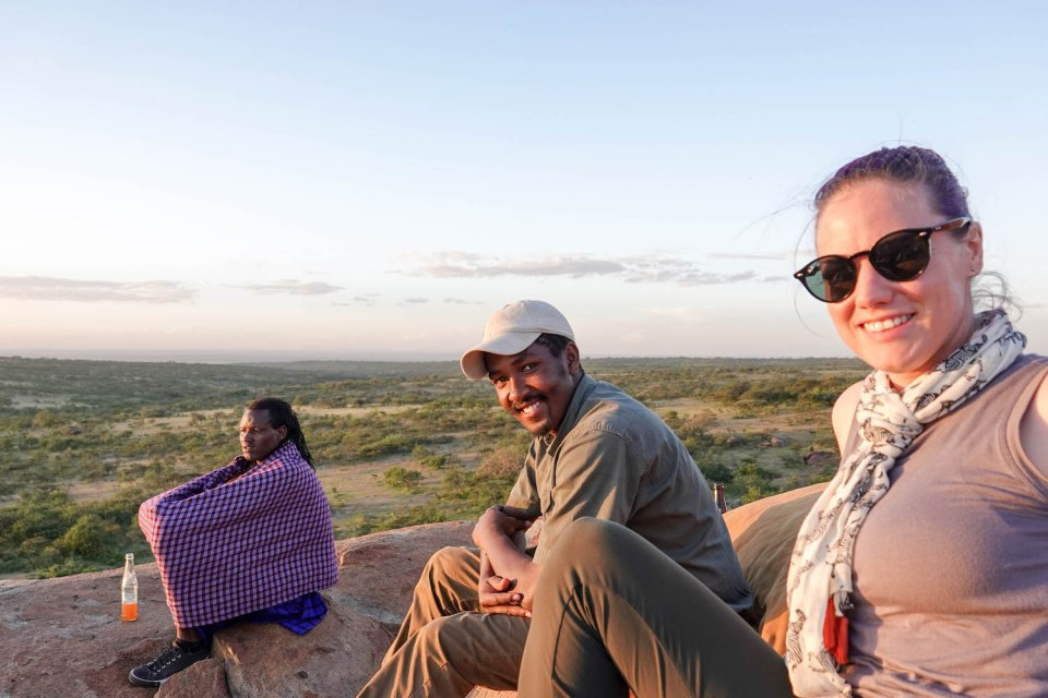 The group at the sundowner -- Our top 10 favorite safari honeymoon moments