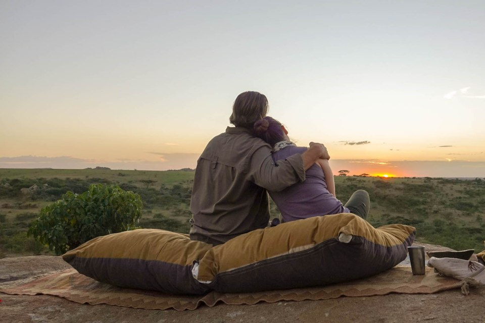 Watching the sunset -- Our top 10 favorite safari honeymoon moments