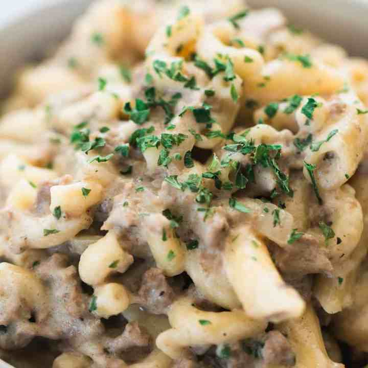 Easy One Pot Beef Stroganoff