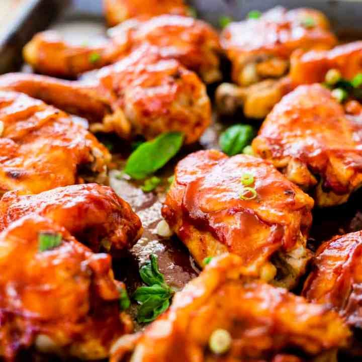 Easy Barbecue Chicken Drumsticks - Instant Pot