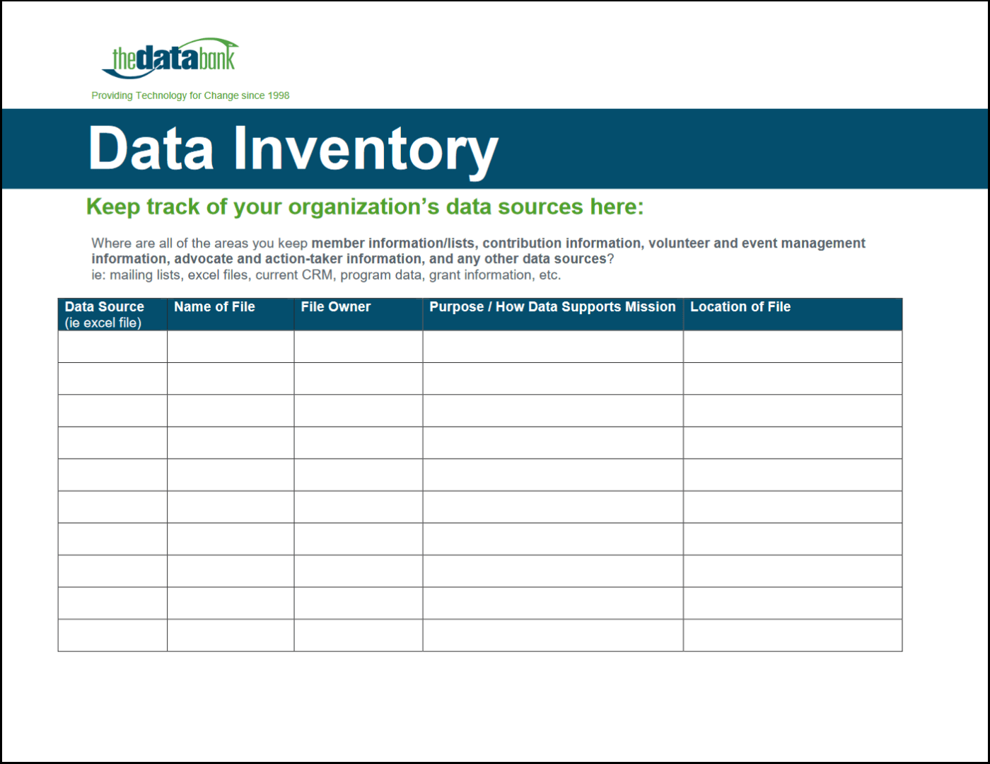Will Worksheet Inventory