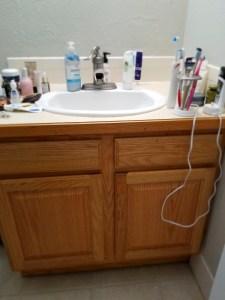 The Datetastic Bathroom Remodel Pt Vanity Horror - Eco friendly bathroom remodel