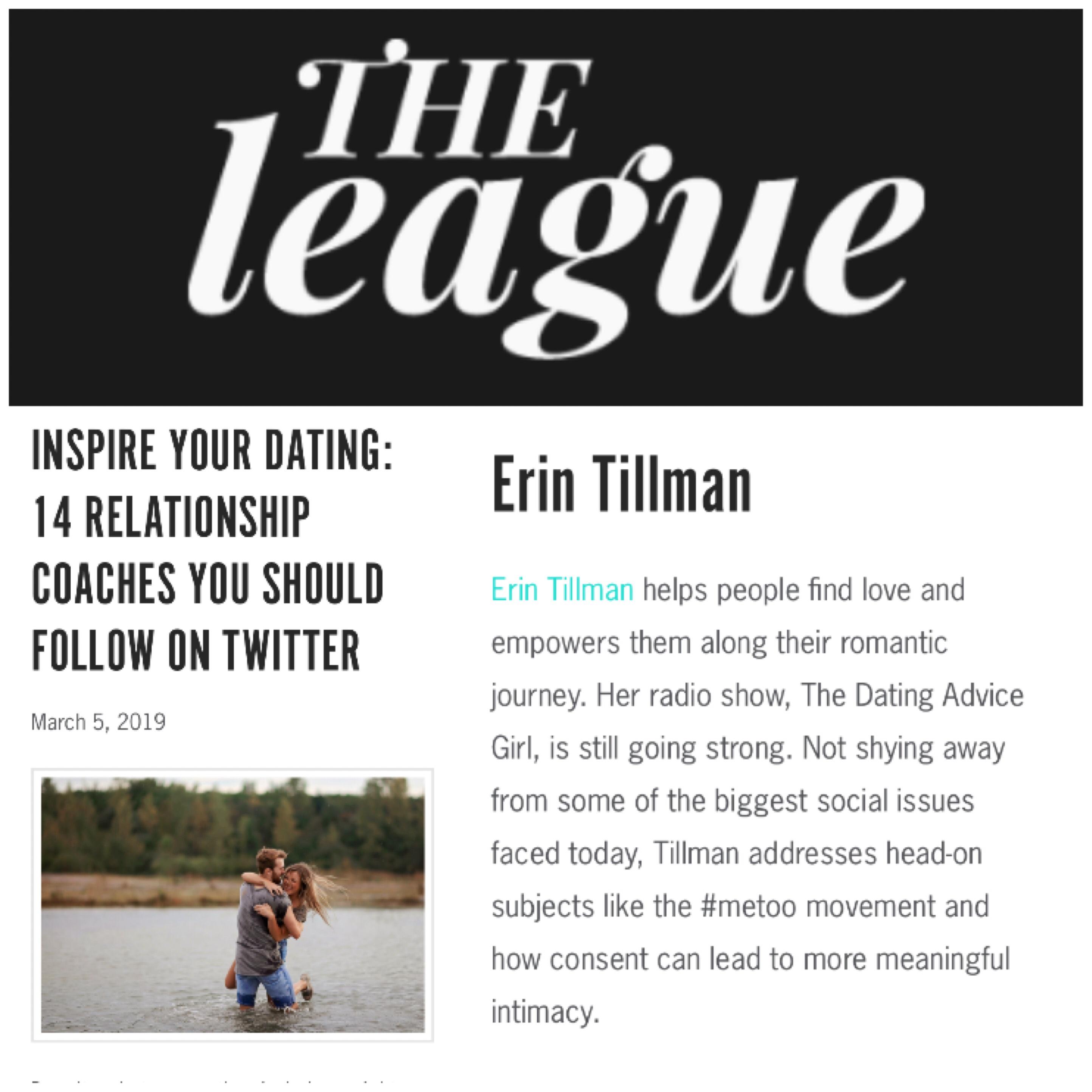 Erin tillman dating advice