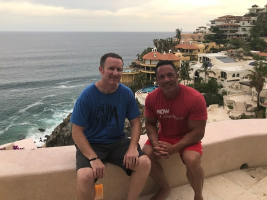 Joel Therien and Dave Gardner in Cabo Mexico