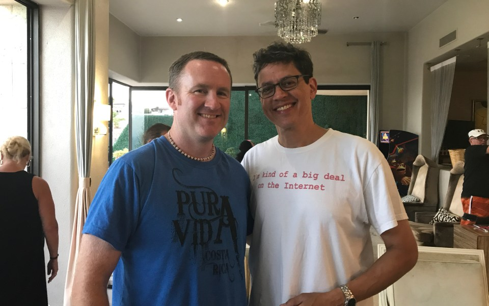 Dave Gardner and Tissa Godavitarne at the Now Lifestyle Leaders retreat