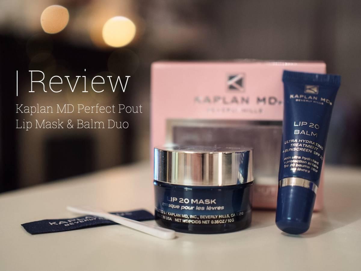 Kaplan MD Perfect Pout Lip Mask & Balm Duo   review