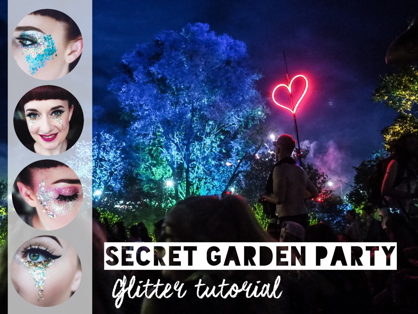 Festival ready glitter tutorials
