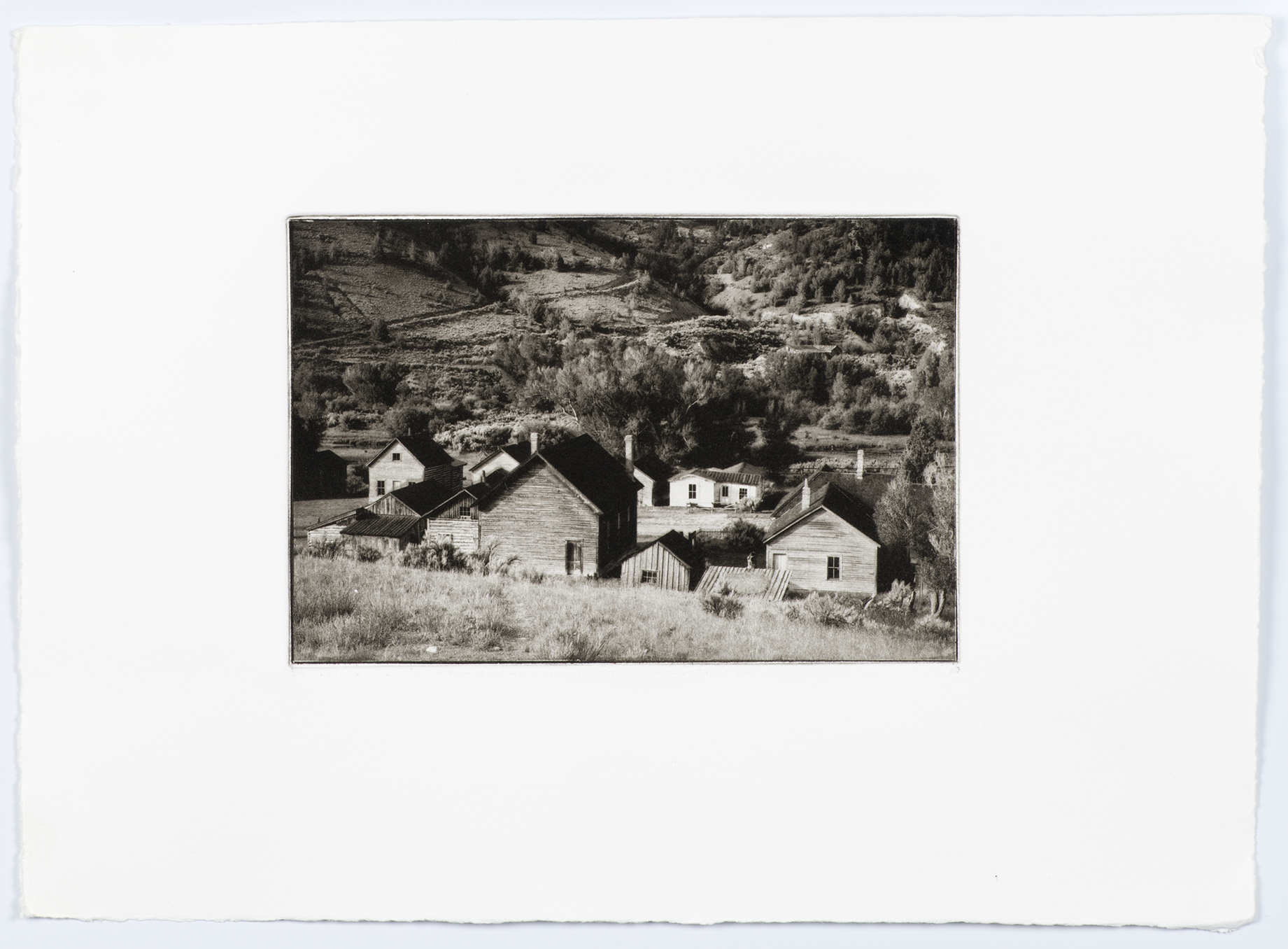 Bannack Ghost Town	by Doug Taylor 2012	copper plate gravure	11x15