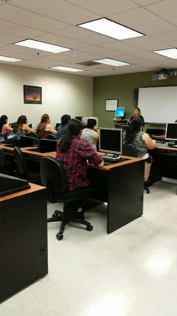 BPPE staff assisting students at Everest College- City of Industry