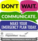 The logo for National Preparedness Month 2016 with space to customize for regions/states logos.