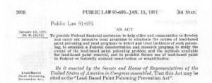 The Lead-Based Paint Poisoning Prevention Act