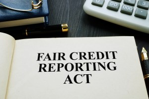 The title page of a law book says Fair Credit Reporting Act.