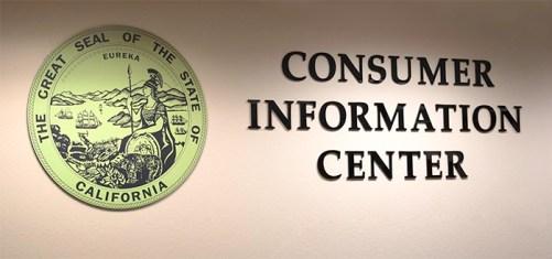 Consumer Information Center office sign