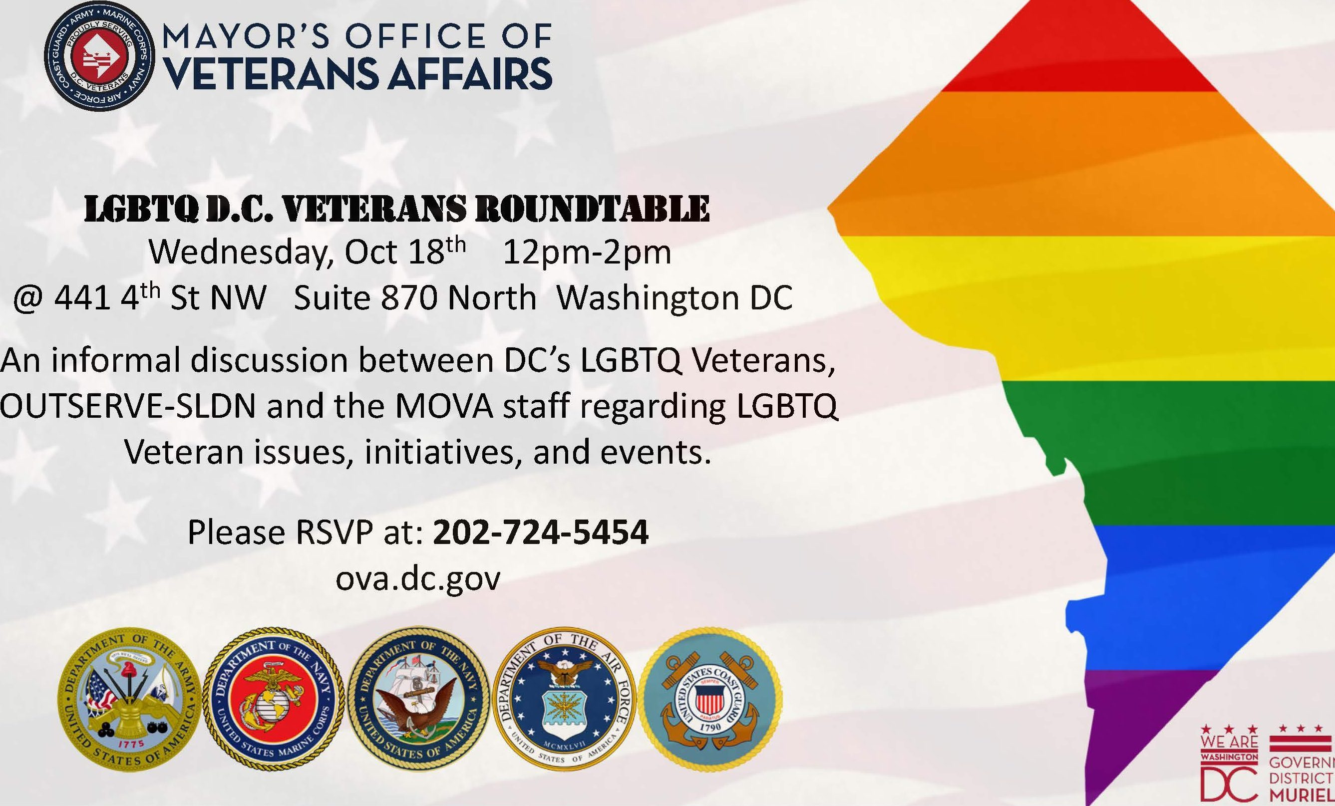Lgbtq Veterans Roundtable The Dc Center For The Lgbt Community