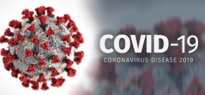 Image of the Coronavirus and the works COVID-19