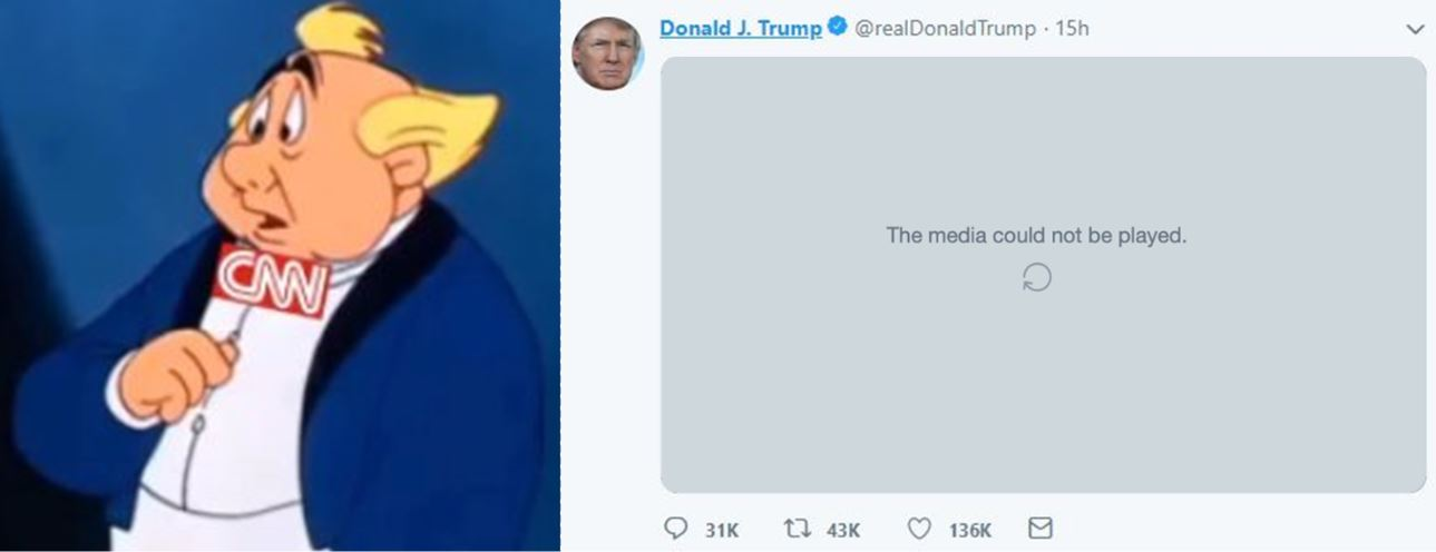 President Trump Censored By Twitter Over Epic @CarpeDonktum Meme