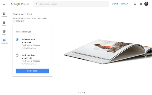 Google adds printed photo books to Canada