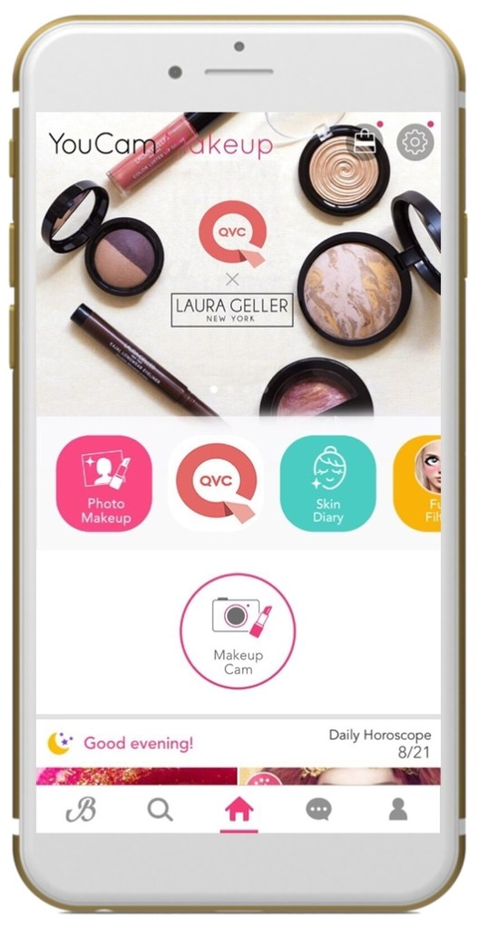 YouCam Makeup Teams Up with QVC for its First Ever TV-Mobile AR Shopping Experience