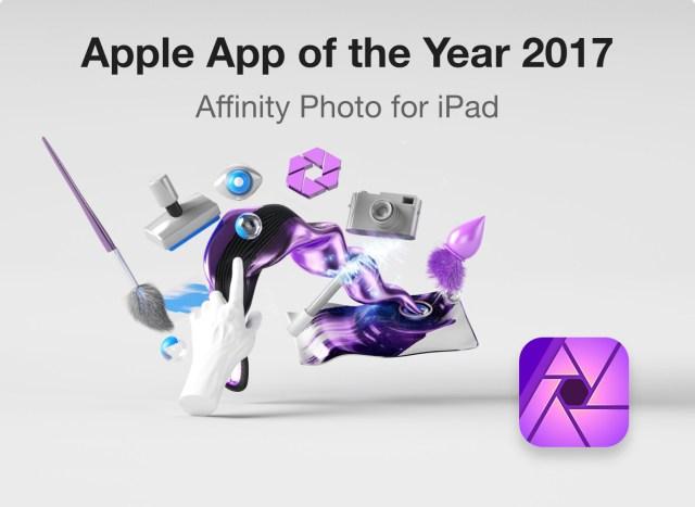 Apple names Affinity Photo top iOS photo app of 2017