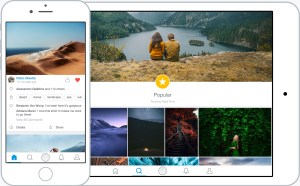 500px for iOS