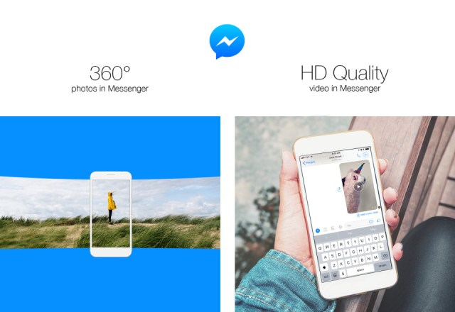 With 360 degree photos and HD quality video, Messenger gets even more visual