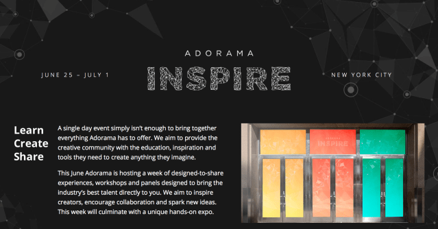 Adorama INSPIRE brings together the creative industry's biggest social influencers, artists and filmmakers