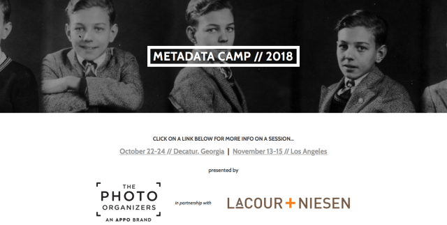 Two Metadata Camps scheduled for this fall