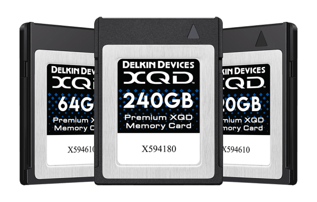 Delkin XQD Memory Cards & XQD adapter now available