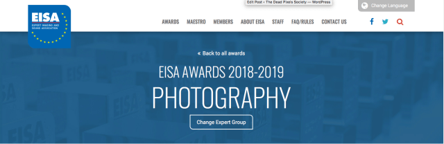 EISA announces awards in photographic products