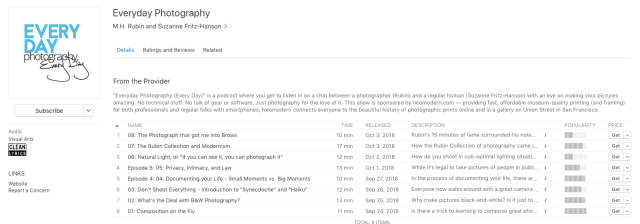 "neomodern adds ""Everyday Photography"" podcast"