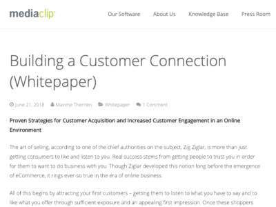 Improving customer acquisition and customer engagement online