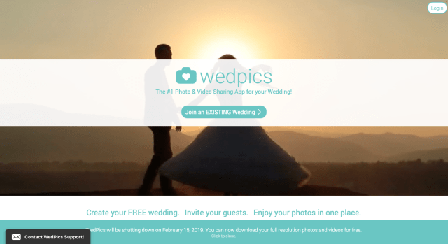 WedPics to shut down Feb. 15