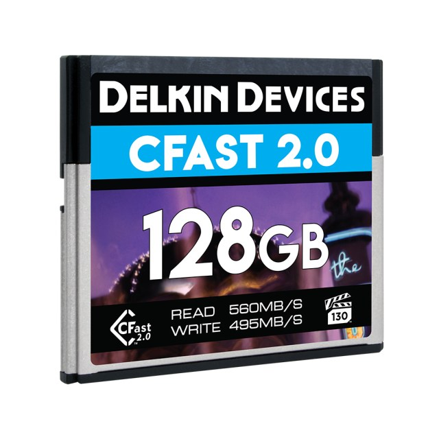 Delkin launches 128GB VPG-130 CFast 2.0 Memory Card