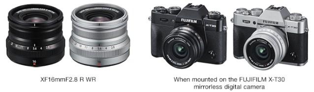 Fujifilm releases Fujinon Lens XF16mm F2.8 R WR