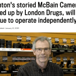 London Drugs purchases local eight-store camera chain, McBain's