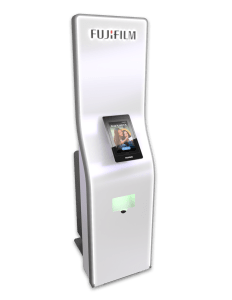 Fujifilm GetPix Quick kiosk with large cabinet