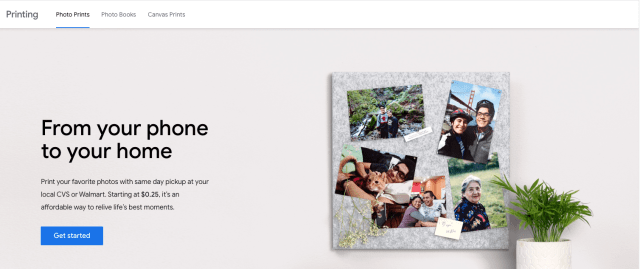 Google Photos adding subscription photo prints