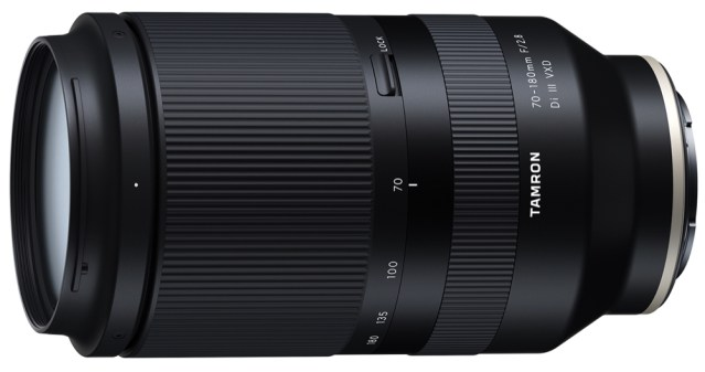 Tamron announces three prime lenses for Sony; development of high-speed telephoto