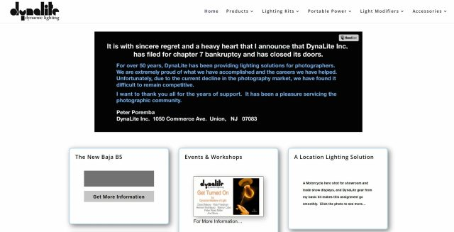 DynaLite goes out of business after 50 years