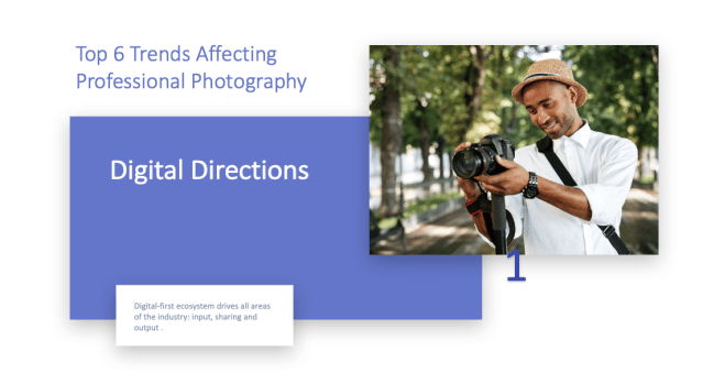 Top six trends affecting the professional photography industry